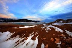 Blue sunset in bulgaria Stock Photo