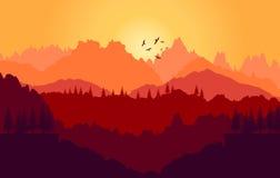 Blue sunset Royalty Free Stock Image