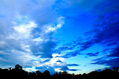 Blue sunset sky. Stock Images