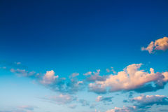 Blue Sunset Sky Royalty Free Stock Photo