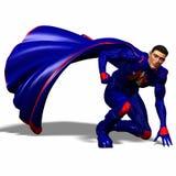 Blue super hero #5 Stock Image