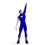 Blue Super Hero Stock Photos