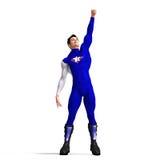 Blue Super Hero Stock Photos