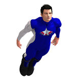 Blue Super Hero Stock Image