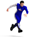 Blue Super Hero Stock Photo