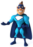 Blue Superhero Royalty Free Stock Photos