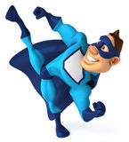 Blue Superhero. Fun superhero, ready to save the world Stock Photography