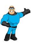 Blue Superhero - Presenting Royalty Free Stock Photos