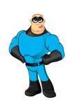 Blue Superhero - Sticking Tongue Out Stock Photos