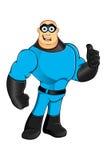 Blue Superhero - Thumbs Up Royalty Free Stock Image