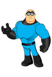 Blue Superhero - Unsure. A cartoon illustration of a Superhero in blue Royalty Free Stock Images