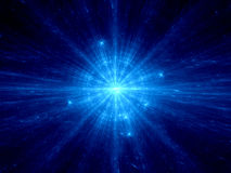 Blue supernova in deep space Royalty Free Stock Image