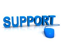Blue support and mouse Stock Photos