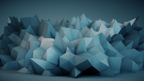 Blue surface abstract 3D rendering Stock Photos