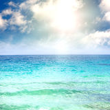 Blue surface of the sea Royalty Free Stock Photography