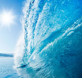 Blue Surfing Wave Royalty Free Stock Photos
