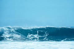 Blue Surfing Wave with Copy Space Stock Photography
