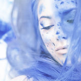 Blue surreal beauty Royalty Free Stock Photos