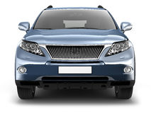 Blue SUV car Stock Images