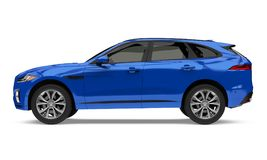 Blue SUV Car Isolated vector illustration