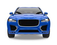 Blue SUV Car Isolated Stock Photo