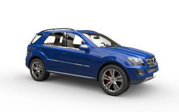 Blue SUV Royalty Free Stock Photography