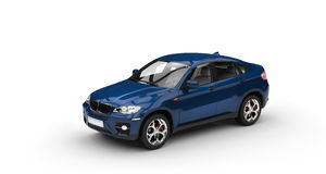Blue SUV Stock Images