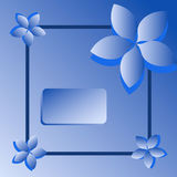 Blue sweat greeting card with flowers Stock Photos