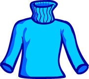 Blue Sweater Royalty Free Stock Photography