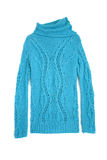 Blue sweater isolated on white stock photography