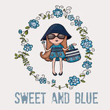 Blue and sweet Stock Images