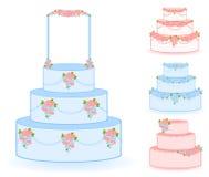 Blue sweet wedding cake Stock Photography