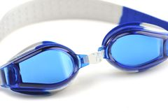 Blue swim goggles Stock Photo