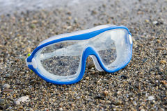 Blue Swimming Glasses Royalty Free Stock Photo