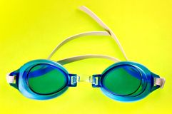 Blue Swimming Goggles Stock Image