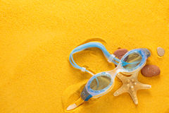 Blue swimming goggles. Royalty Free Stock Images