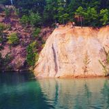 Blue Swimming Hole Royalty Free Stock Images