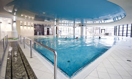 Blue swimming pool Stock Photography