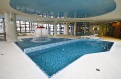 Blue swimming pool stock photos