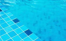 Blue swimming pool Stock Photo