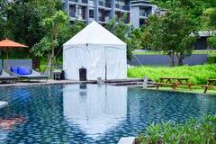 White pavilion, khao yai, thailand stock photos