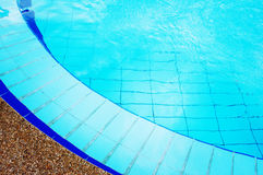 Blue Swimming Pool with Pure Transparent Water Royalty Free Stock Photography