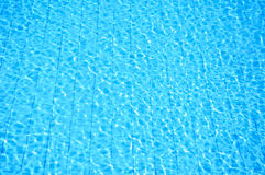 Blue swimming pool with ripple water Royalty Free Stock Photos