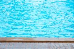 Blue swimming pool rippled Stock Photo