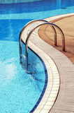 Blue swimming pool with steps Royalty Free Stock Image
