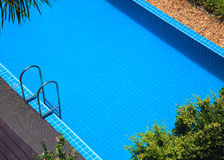 Blue swimming pool summer vacation Royalty Free Stock Image