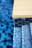 Blue swimming pool tiles Royalty Free Stock Photo