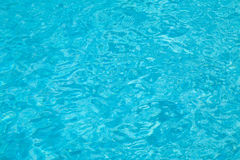 Blue swimming pool water Royalty Free Stock Photos