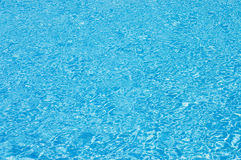 Blue swimming pool water Royalty Free Stock Image
