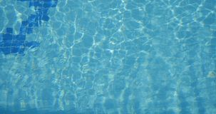 Blue swimming pool water stock footage